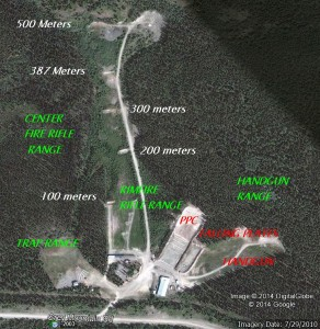 Range Layout - Trap Range, Rifle Range, Handgun Range
